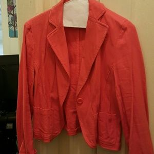 Orange cotton blazer